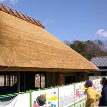 大学時代アルバイトで茅葺屋根を葺く手伝いをしました。