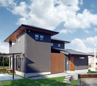 神戸の工務店 あんじゅホーム【施工事例】内装に木や石を使って、素材を楽しむ家